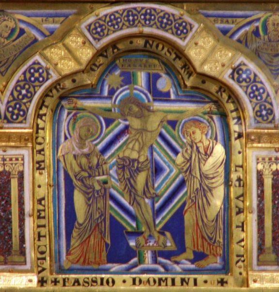 Detalle del altar de Verduner en el monasterio de Klosterneuburg, Austria (circa 1181).
