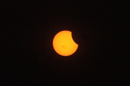 En el punto máximo del eclipse